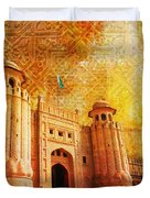 Shahi Qilla Or Royal Fort Duvet Cover by Catf