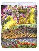 Shakespeare Garden Central Park New York City Duvet Cover by Carol Wisniewski