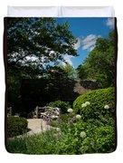 Shakespeares Garden Central Park Duvet Cover