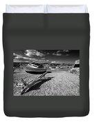 Shaldon Beach In Mono  Duvet Cover