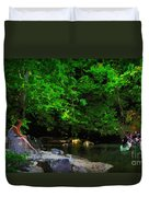 Shall We Gather At The River Duvet Cover
