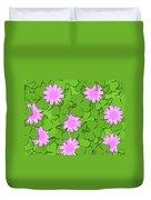Shamrock Paper Cutting Clover Flowers Background Duvet Cover
