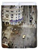 Shanghai China Big City Urban Scene From Above Duvet Cover