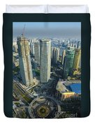 Shanghai From Above Duvet Cover