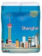 Shanghai Duvet Cover by Karen Young
