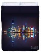 Shanghai Reflections Duvet Cover
