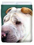 Shar Pei Art - Wrinkles Duvet Cover