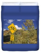 Share The Road Duvet Cover