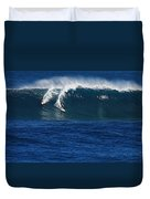 Sharing A Wave In Waimea Bay Duvet Cover