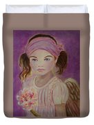 Sharissa Little Angel Of New Beginnings Duvet Cover