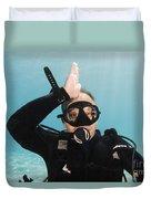 Shark Alert  Duvet Cover