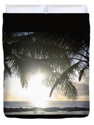Sharks Cove Sunset Duvet Cover by Brandon Tabiolo
