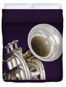 Sharp Silver Trumpet Duvet Cover