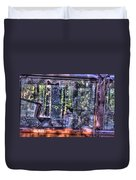 Shattere Side School Bus Window Duvet Cover