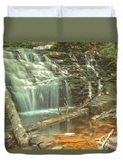 Shawnee Falls At Ricketts Glen Duvet Cover
