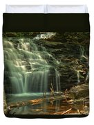 Shawnee Falls In The Spring Duvet Cover