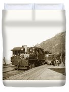 Shay No. 498 At The Summit Of Mt. Tamalpais Marin Co California Circa 1902 Duvet Cover