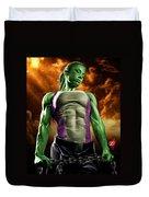She-hulk 2 Duvet Cover by Pete Tapang