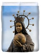 She Watches Over The World Duvet Cover