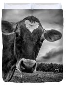 She Wears Her Heart For All To See Duvet Cover by Bob Orsillo