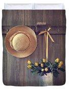 Shed Door Duvet Cover by Amanda Elwell