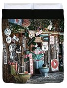 Shed Toilet Bowls And Plaques In Seligman Duvet Cover by RicardMN Photography