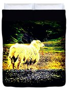 Don't You Look At Me With That Sheep Attitude  Duvet Cover