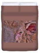 Sheep Close Up 2 Duvet Cover
