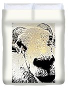 What A Sheep Face To Have   Duvet Cover