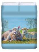 Sheep Lying Down Duvet Cover