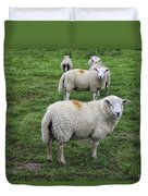 Sheep On Parade Duvet Cover