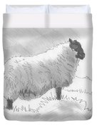 Sheep Sketch Duvet Cover