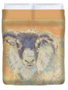 Sheep With Horns Duvet Cover