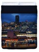 Sheffield Skyline At Night Duvet Cover