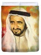 Sheikh Rashid Bin Saeed Al Maktoum Duvet Cover by Corporate Art Task Force