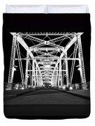 Shelby Street Bridge At Night In Nashville Duvet Cover