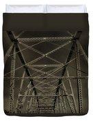 Shelby Street Bridge Details Nashville Duvet Cover