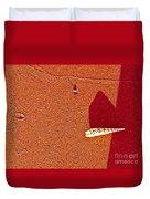 Shell And Sand Reddish Version Duvet Cover