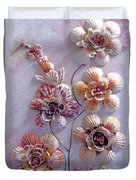 Shell Flowers  No 1  Duvet Cover