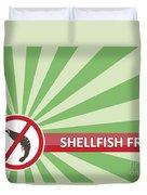 Shellfish Free Banner Duvet Cover
