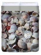 Shells On Treasure Island Duvet Cover by Carol Groenen