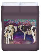 Sheltering Cows Duvet Cover