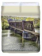 Shelton Derby Railroad Bridge Duvet Cover