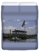Shem Creek Bar And Grill Duvet Cover