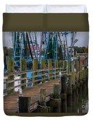 Shem Creek Wharf Duvet Cover