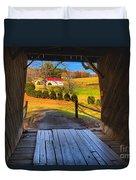 Shenandoah Virginia Covered Bridge Duvet Cover