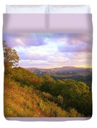Shenandoah's Golden Hour  Duvet Cover