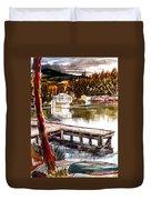 Shepherd Mountain Lake Bright Duvet Cover by Kip DeVore