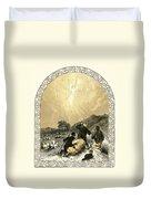 Shepherds And Angel Duvet Cover