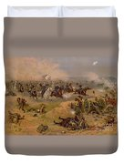 Sheridan's Final Charge At Winchester Duvet Cover by American School